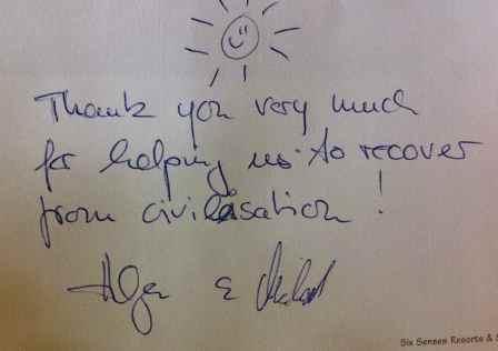 Helga+Michael's note