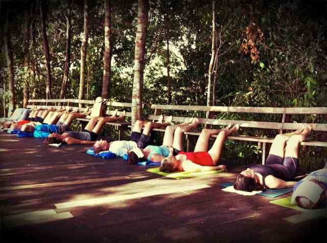 yoga class-shavasana@bench