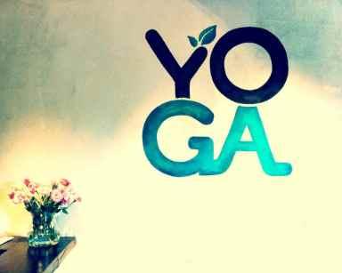 yoga garden wall+flowers