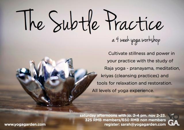 the subtle practice-NOV