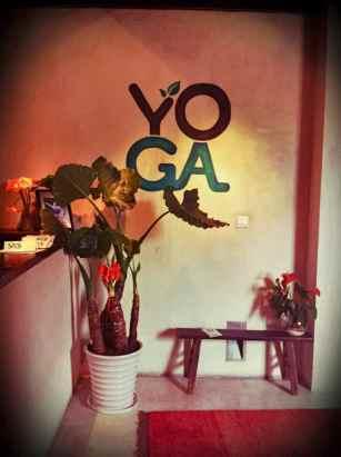 yoga garden wall