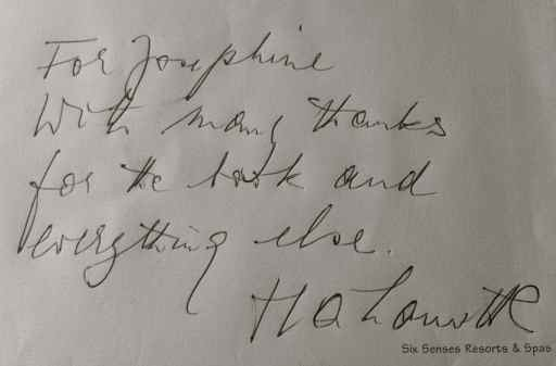 Harald Lamotte's note