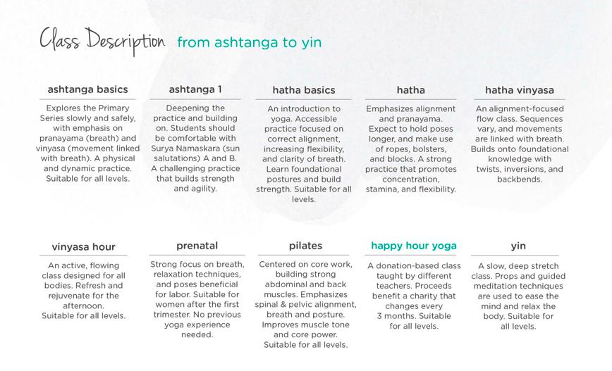 Yoga Garden schedule