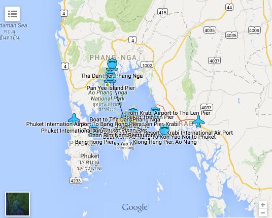Koh Yao Yai map