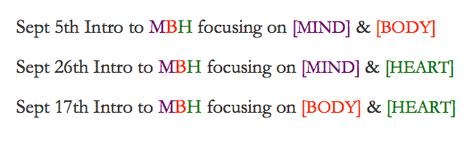 MBH intro dates