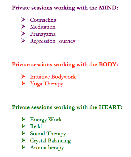 private sessions under MBH